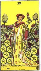 9 of Pentacles Tarot Card