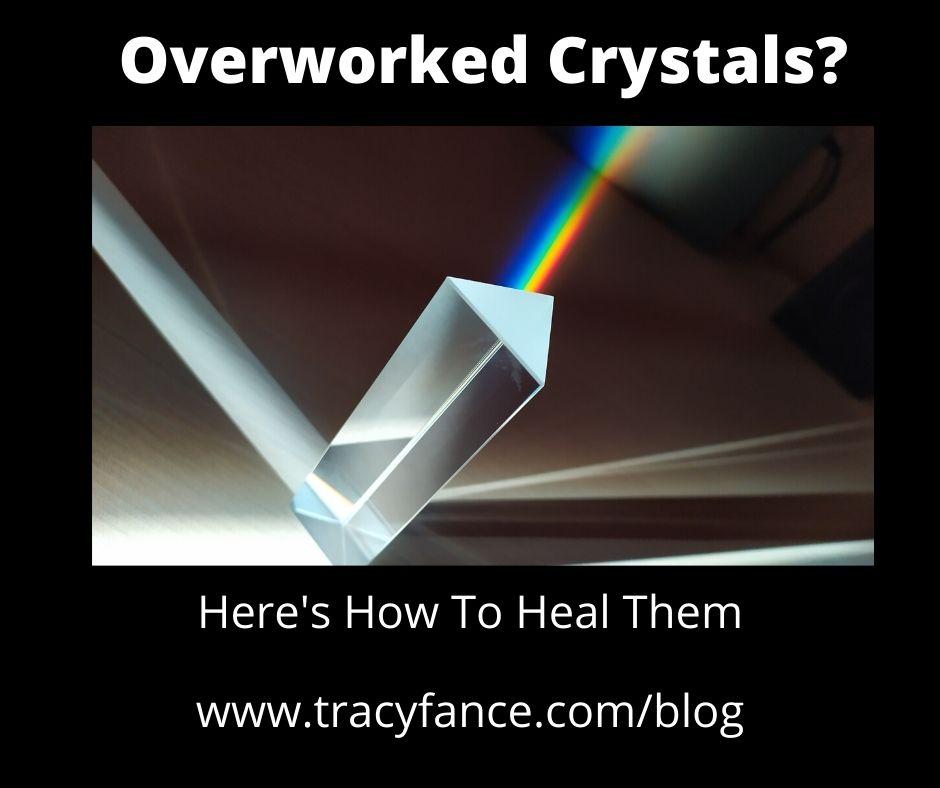 Clear Quartz Crystal With Rainbow